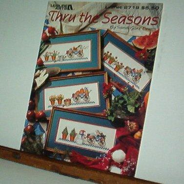 Cross Stitch Pattern, THRU THE SEASONS by Sandi Evans 10 designs mix and match