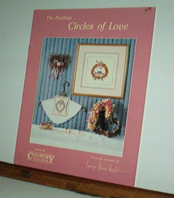 Cross Stitch Pattern, THE NESTLINGS...CIRCLES OF LOVE Art by Carolyn Wright 3 Designs