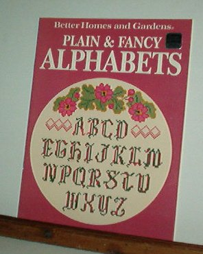 Cross Stitch Pattern, 14 designs PLAIN & FANCY ALPHABETS  BH&G + 2 number designs