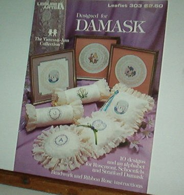 Cross Stitch Pattern, DESIGNED FOR DAMASK  Vanessa-Ann Collection Alphabet & Designs