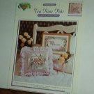Cross Stitch Pattern,TEA ROSE PAIR  Sampler and pillow