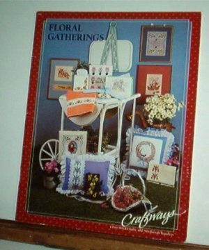 Cross Stitch Pattern,  FLORAL GATHERINGS  14 designs and 16 transfers