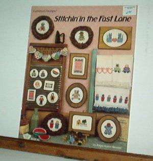 Cross Stitch Pattern, STITCHIN IN THE FAST LANE by Angie Newton 20 small designs