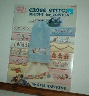 Cross Stitch Pattern, DESIGNS FOR TOWELS 29 designs by Sam Hawkins