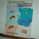 Cross Stitch Pattern, BEGINNERS GUIDE TO WASTE CANVAS CROSS STITICH  15 designs + alphabet