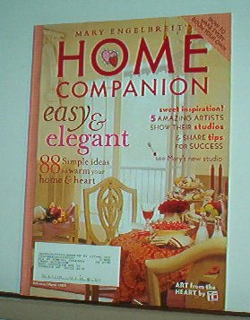 Magazine - Mary Engelbreit - HOME COMPANION - Like New - Free Shipping - Feb/Mar 2004