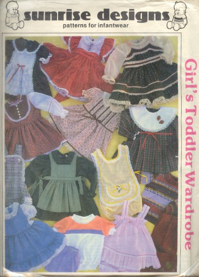 Sewing Pattern Sunrise Design Girl's Toddler Wardrobe Sizes 1T-4T