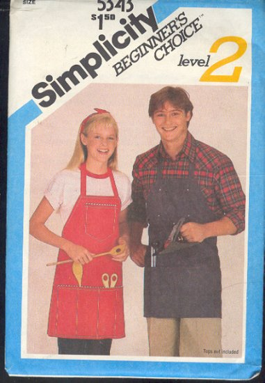 Sewing Pattern Simplicity 5343 All purpose apron, men and women one size