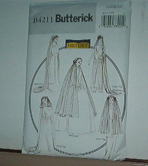 Sewing Pattern Butterick B4211 Historical Vails 5 styles All sizes
