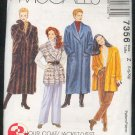 Sewing Pattern  McCall's 7356 Winter coat, jacket, fleece vest Sizes 16-22