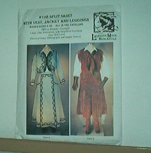 Sewing Pattern Laughing Moon Mercantile Authentic Cowgirl skirt and vest Sz 6-26