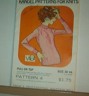 Sewing Pattern Kandel Knits #46 Sizie 30-36 Pullover sweater