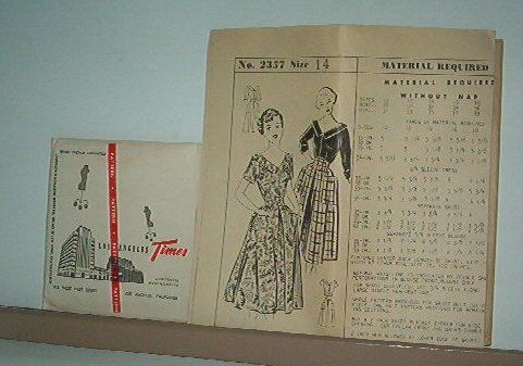 Sewing Pattern Vintage Los Angeles Times Size 14 No. 2357 Blouse and Skirt or Dress