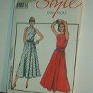 Sewing Pattern Style 1004 Sleeveless summer dress narrow shoulder full skirt Sz 6-12