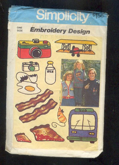 Embroidery Pattern Simpicity 7147 Fast food & sports Vintage