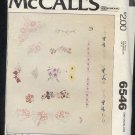 Embroidery Pattern McCall's 6546 flower and borders, 29 designs