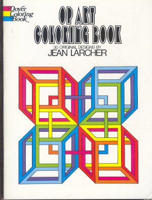 Book - Coloring Book - Op Art  by Jean Larcher, 30 original designs 0486231720
