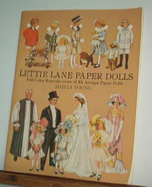 Book - Paper Dolls -  LETTIE LANE PAPER DOLLS -  24 antique dolls by Sheila Young 0486240894