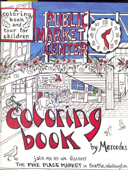 Book - Paper Dolls  PIKE PLACE MARKET Seattle Washington by Mercedes + Guide 0931693187