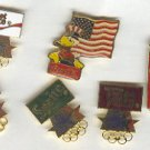 Pin - Collector Pins - Olympic Games 1984 Los Angeles - Coca Cola 6 pins