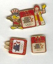 Pin - Collector Pins - Olympic Games 1984 Los Angeles -McDonald's 3 Pins