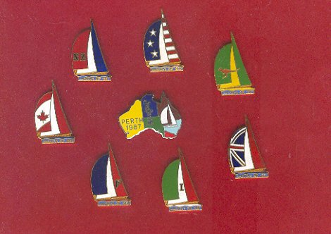 Pin - Collector Pins - America's Cup Sailing Race, Perth Australia
