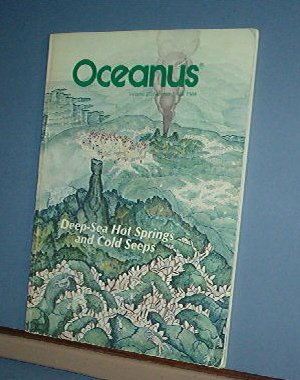 Magazine Ships Free in US  Vintage OCEANUS Oceanography Hot Springs Fall 1984 Vol 27 #3