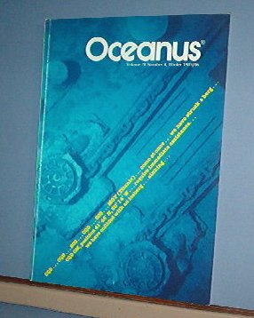 Magazine Ships Free in US  Vintage OCEANUS Oceanography Titanic Winter 1985 Vol 28 #4