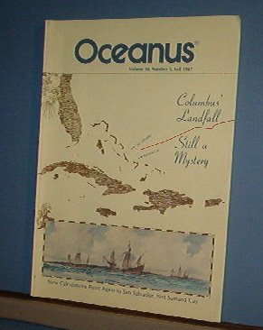 Magazine Ships Free in US  Vintage OCEANUS Oceanography Columbus Fall 1987 Vol 30 #3