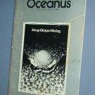 Magazine Ships Free in US  Vintage OCEANUS Oceanography Ocean Mining Fall 1982 Vol 25 #3