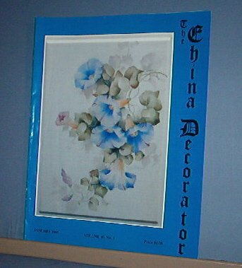 Magazine THE CHINA DECORATOR Free Ship in US Porcelain Painting January 1995