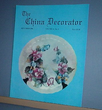 Magazine THE CHINA DECORATOR Free Ship in US Porcelain Painting September 1996