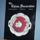 Magazine THE CHINA DECORATOR Free Ship in US Porcelain Painting March 1982
