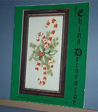 Magazine THE CHINA DECORATOR Free Ship in US Porcelain Painting December 1990