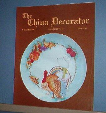 Magazine THE CHINA DECORATOR Free Ship in US Porcelain Painting November 1993