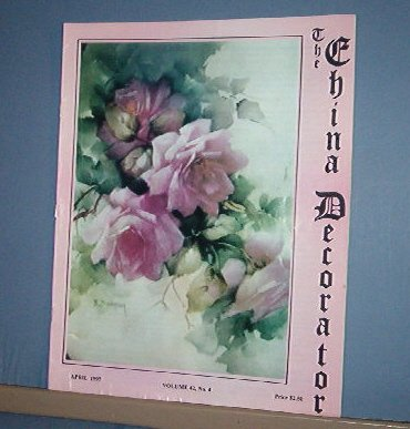 Magazine THE CHINA DECORATOR Free Ship in US Porcelain Painting April 1997