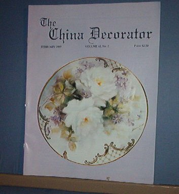 Magazine THE CHINA DECORATOR Free Ship in US Porcelain Painting February 1997