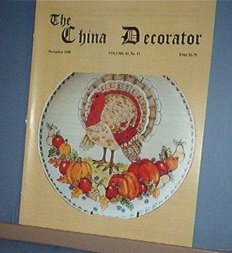 Magazine THE CHINA DECORATOR Free Ship in US Porcelain Painting November 1998