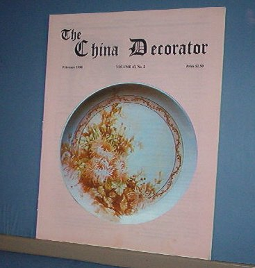 Magazine THE CHINA DECORATOR Free Ship in US Porcelain Painting  February 1998