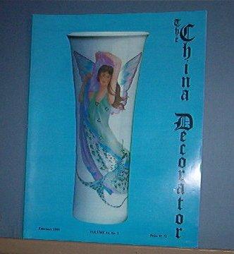 Magazine THE CHINA DECORATOR Free Ship in US Porcelain Painting Februar 1999