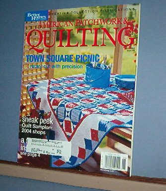 Magazine - BH&G American Patchwork & Quilting Sewing Patterns June 2004 #68