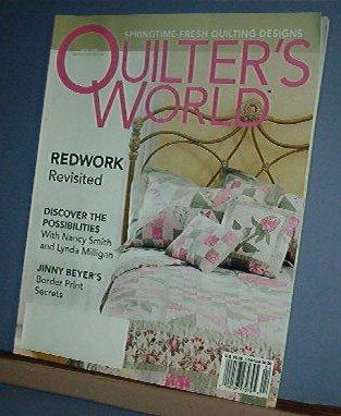 Magazine - Quilter's World April 2004 Redwork, Border Prints