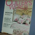 Magazine - Quilter's World April 2004 Redwork, Border Prints