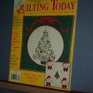 Magazine - Quilting Today, December 1993 Christmas and Trapunto