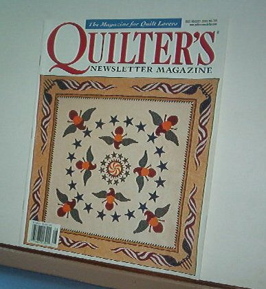 Magazine - Quilter's Newsletter - Quilting, Sewing, Patterns No. 344 July/Aug 2002