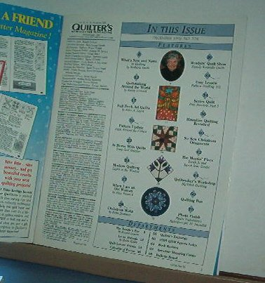 Magazine - Quilter's Newsletter - Quilting, Sewing, Patterns No. 278 December 1995