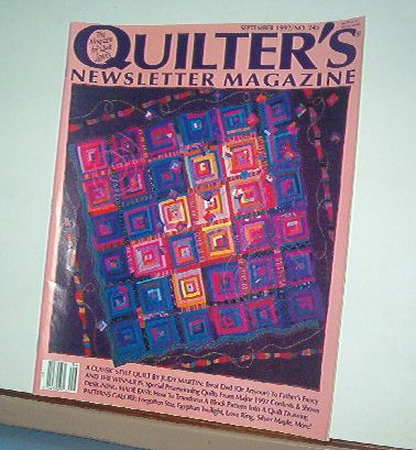 Magazine - Quilter's Newsletter - Quilting, Sewing, Patterns No. 245 September 1992