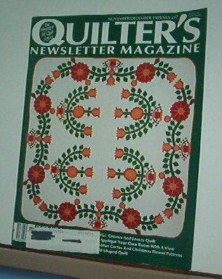 Magazine - Quilter's Newsletter - Quilting, Sewing, Patterns No. 217 Nov/Dec 1989