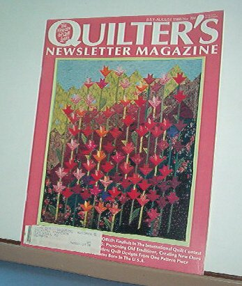 Magazine - Quilter's Newsletter - Quilting, Sewing, Patterns No. July/Aug 1988