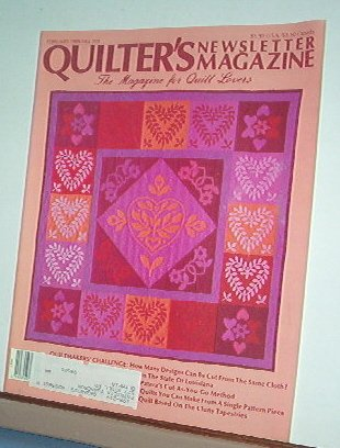 Magazine - Quilter's Newsletter - Quilting, Sewing, Patterns No  199 February 1988